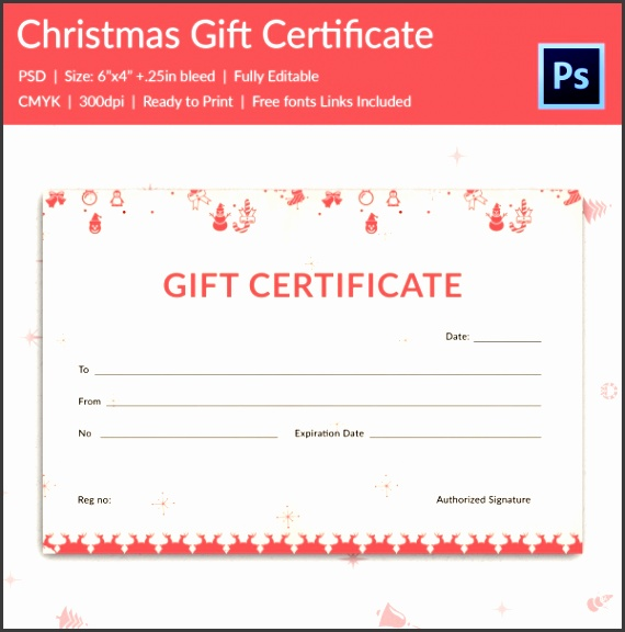 printable christmas t certificate template