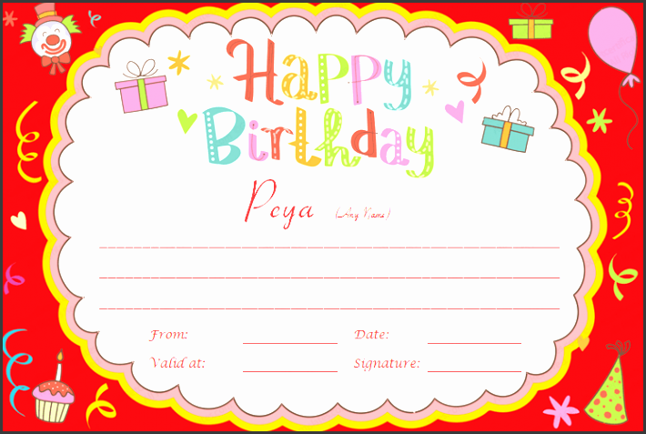 birthday bash t certificate template preview