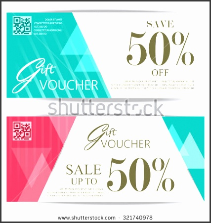 t voucher certificate coupon template cute and modern style can be use for business