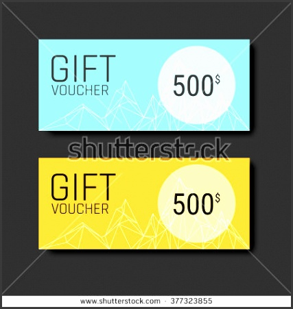 t voucher certificate coupon template with colorful and modern style can be use for business