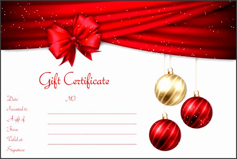 velvet ribbons christmas t certificate template