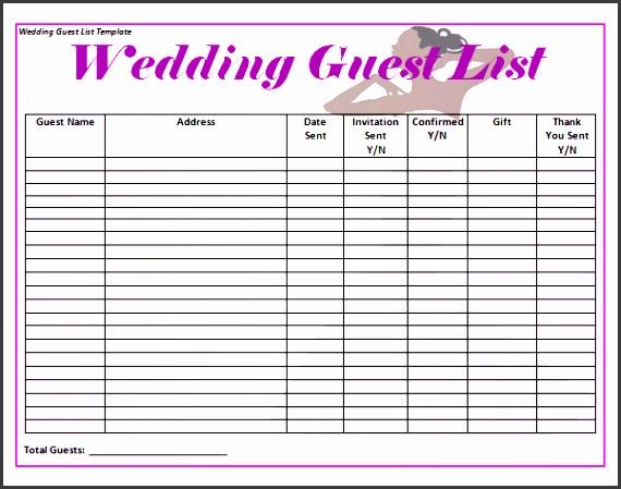wedding guest list template excel wedding invitation list template sample wedding guest