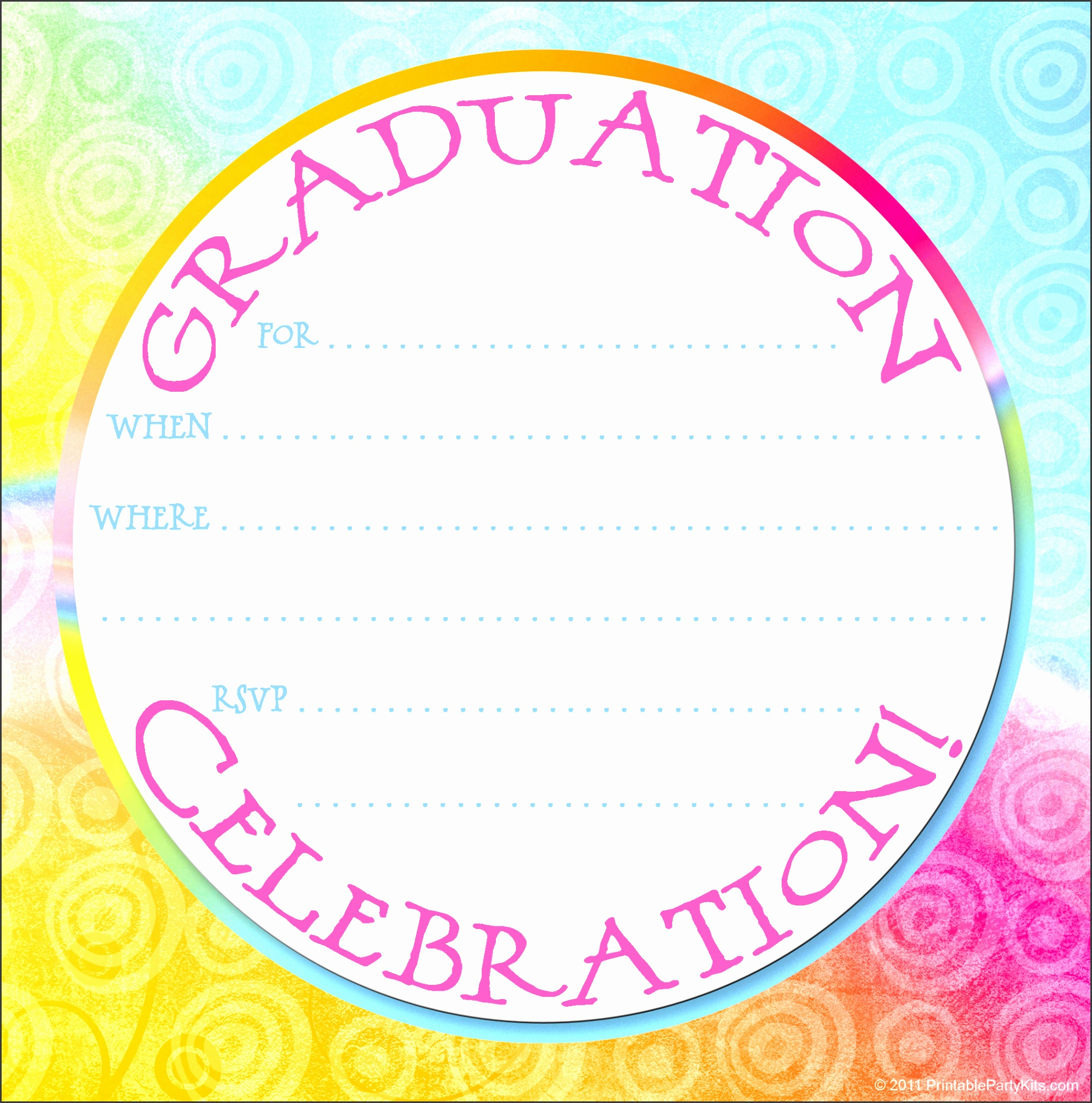click on the printable graduation party invitation template below to enlarge and it
