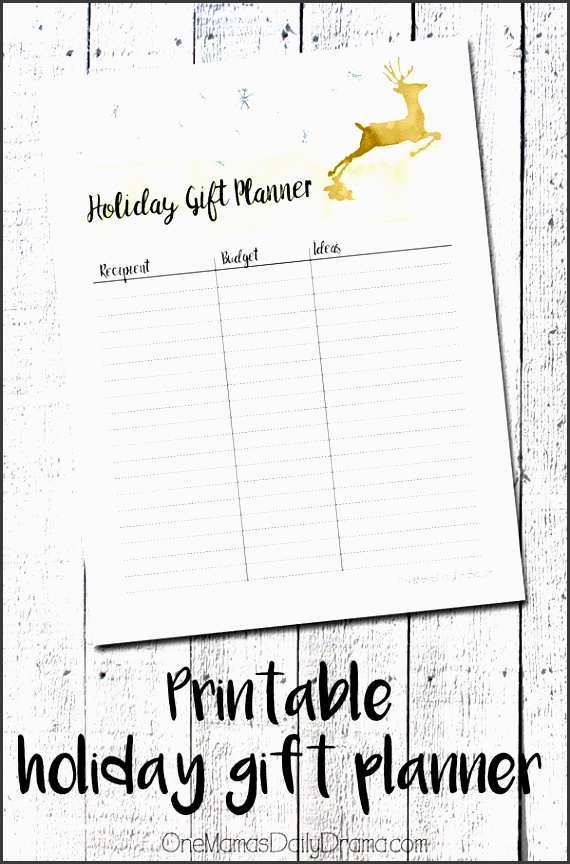 printable holiday t planner