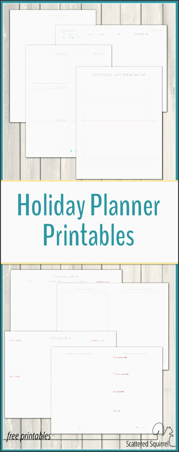 the holiday planner printables are a great way to organized for the holidays