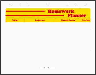 plan your homework assignments out in advance with this printable study planner free to