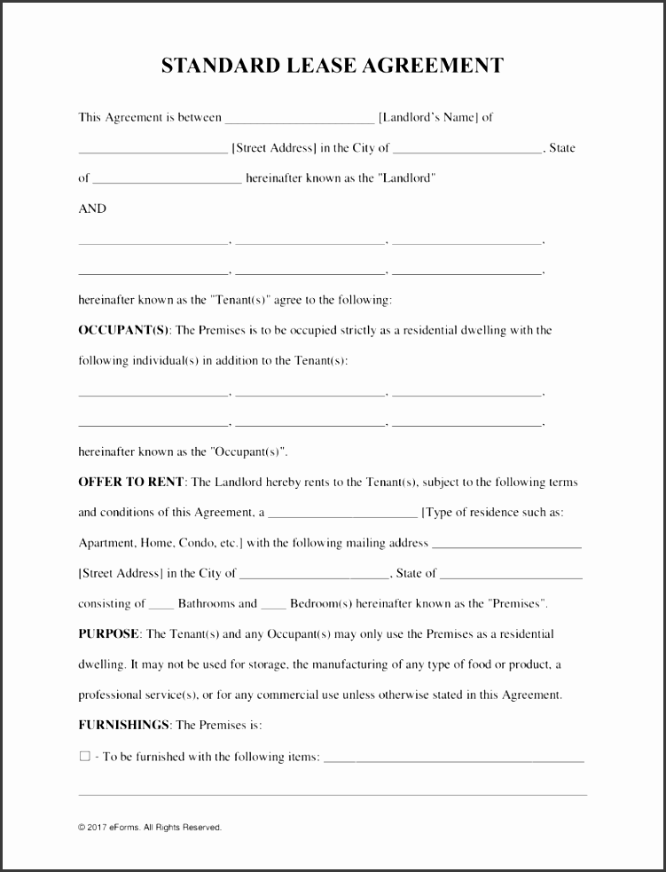 free rental lease agreement templates residential mercial pdf word eforms free fillable forms