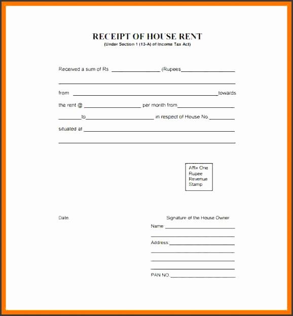 rental receipt template pdf house rent receipt template 8