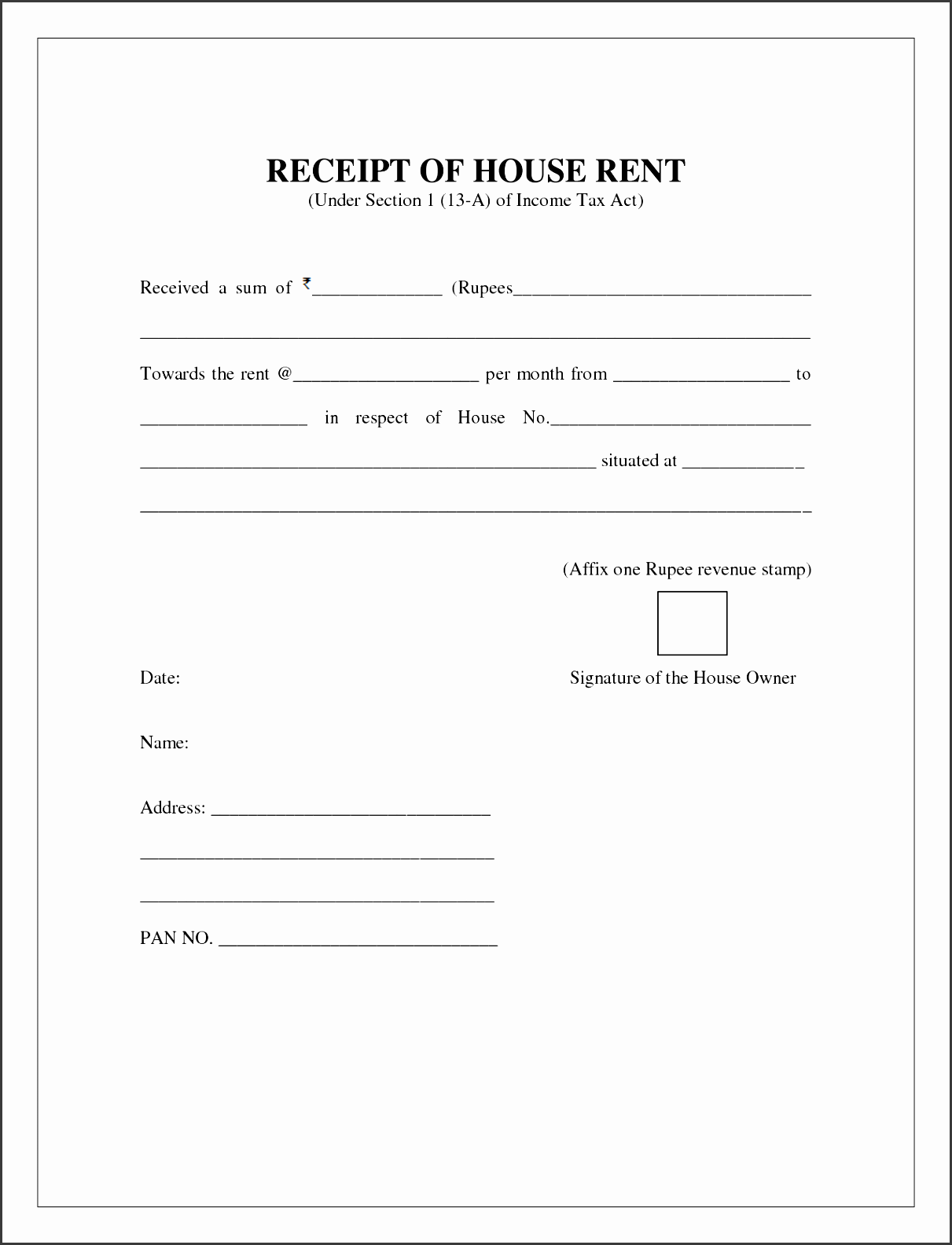 what s more picture showed above is formal house rental invoice template