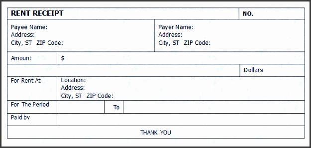 4  house rent receipt template