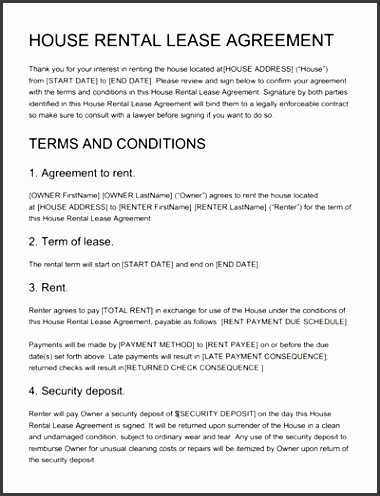 house rental agreement template free edit print and sign