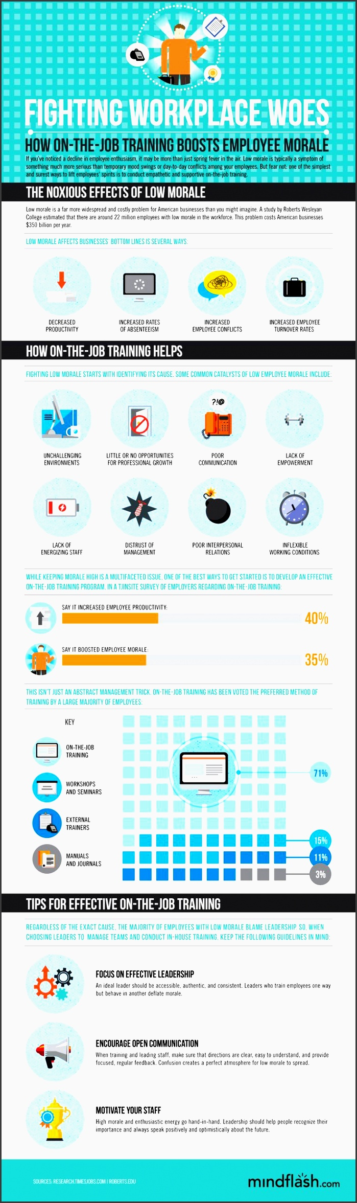 manage low employee morale infographics mania