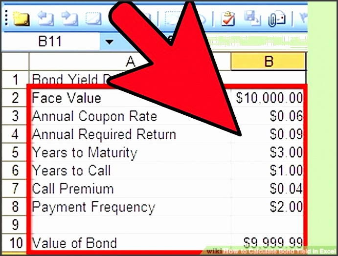 image titled calculate bond yield in excel step 6