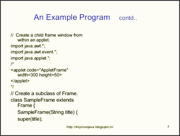 7 an example program