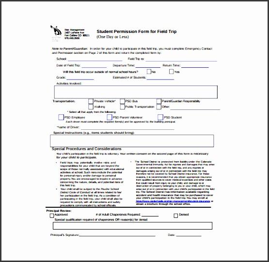 student permission slip pdf template