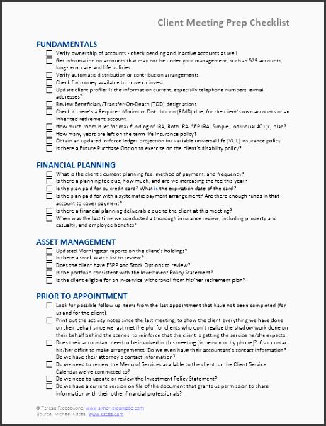 client meeting prep checklist graphic