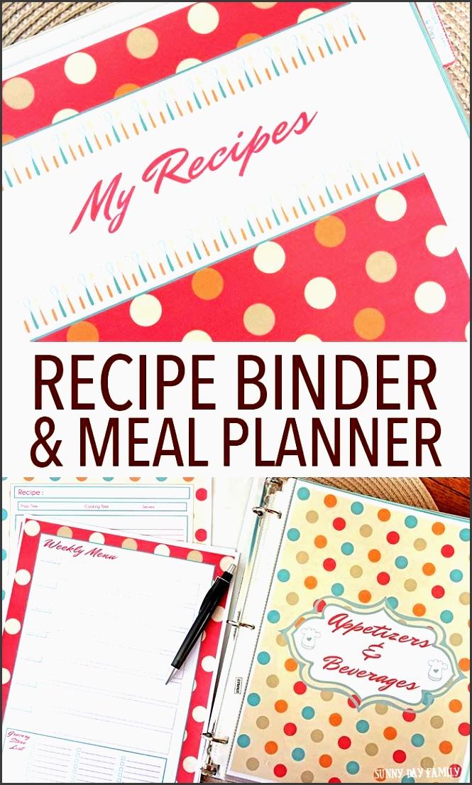 make your own recipe binder meal planning organizer