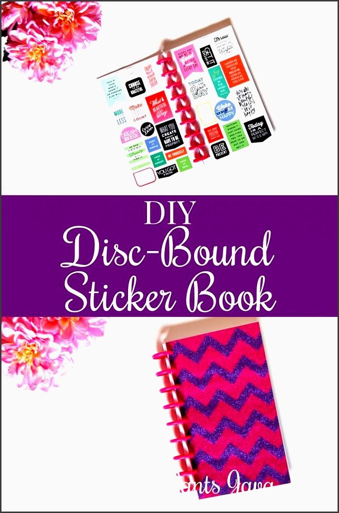 diy disc bound sticker book