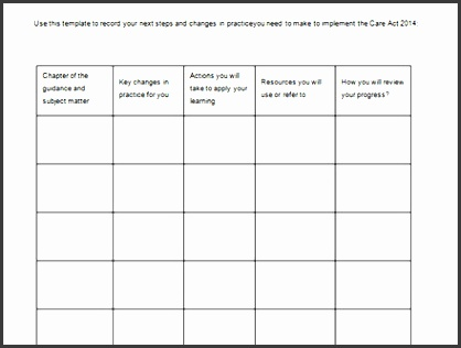 simple action plan template 7 free word excel pdf