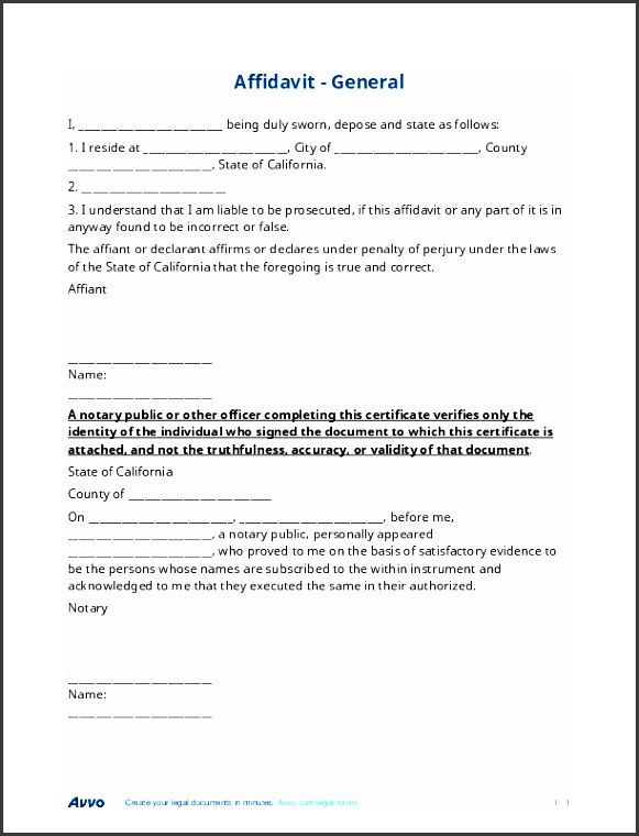 View Sample Affidavit Affidavit Free General Affidavit Form Template 612792  General Affidavit Template