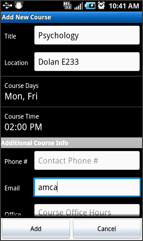 assignment planner pro screenshot