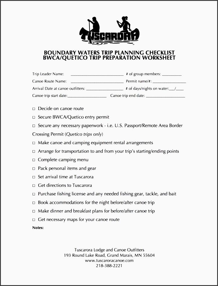 bwca trip planning preparation checklist