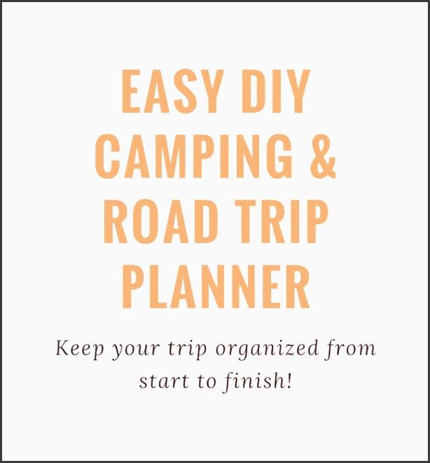 easy diy camping road trip planner