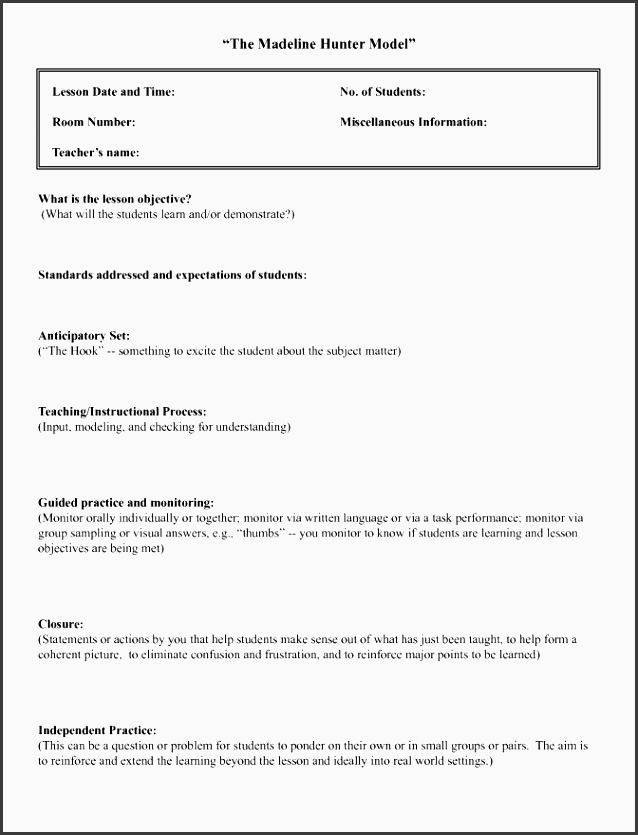 madeline hunter lesson plan template word best examples ubd business intende lesson plan templates word lesson