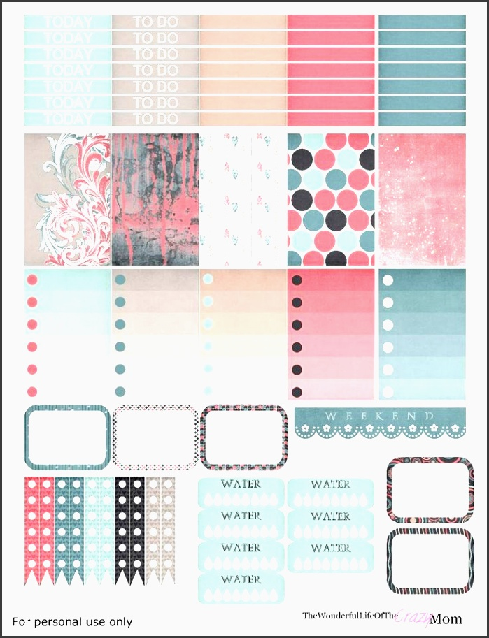 free printable dreamin planner stickers from the wonderful life of the crazy mom