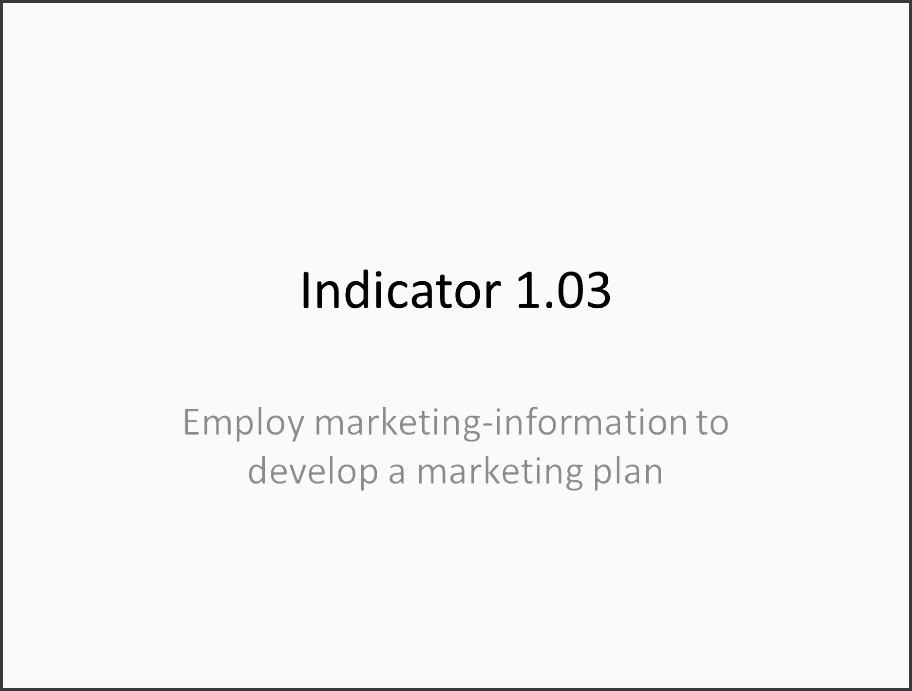 employ marketing information to develop a marketing plan