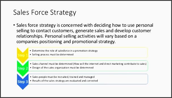marketing to interact with customers 3 sales force strategy