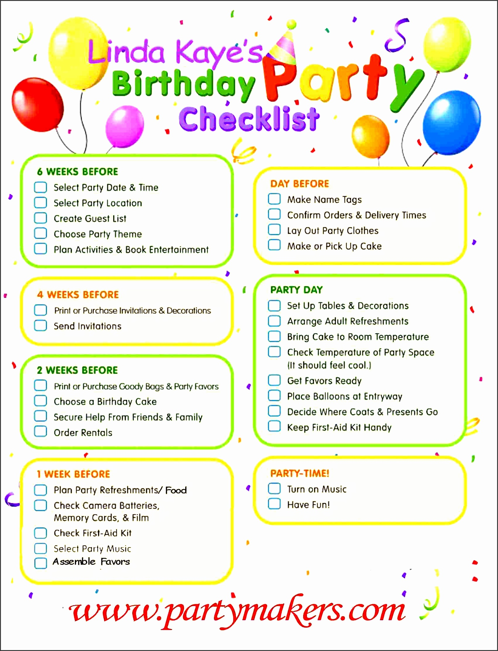 birthday party guest list template microsoft word templates for birthday party checklist template birthday party checklist