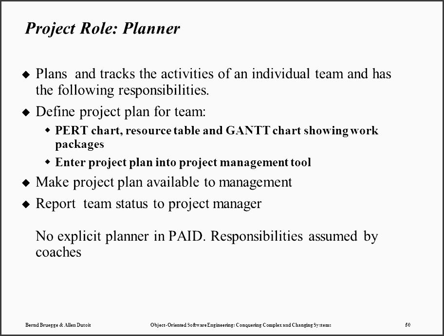 50 project role planner plans