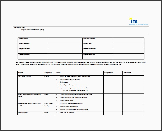 mais umich project team munication plan is a free word format designed to create a good munication plan by the way with a munication plan
