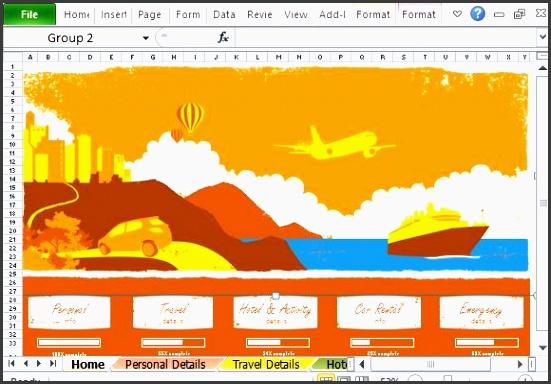 4 how to make travel plan in excel sampletemplatess sampletemplatess. Black Bedroom Furniture Sets. Home Design Ideas