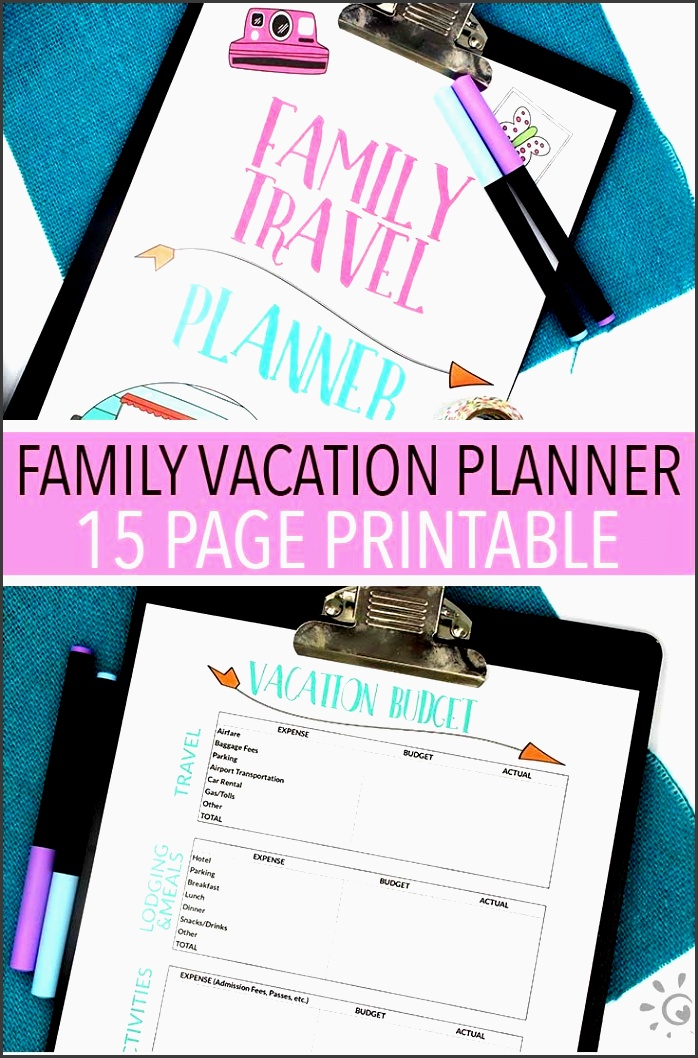 ready for a family vacation organized with this family travel planner everything you