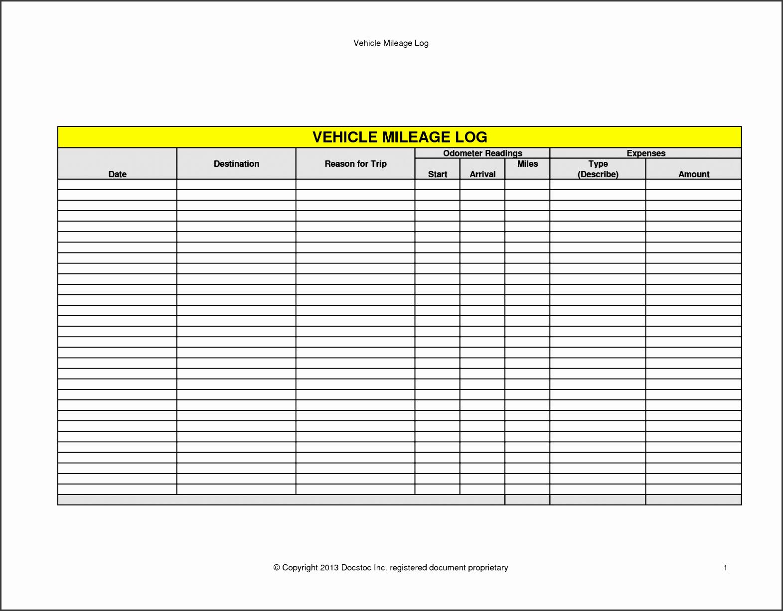 5+ How to Make Vehicle Mileage Log - SampleTemplatess ...