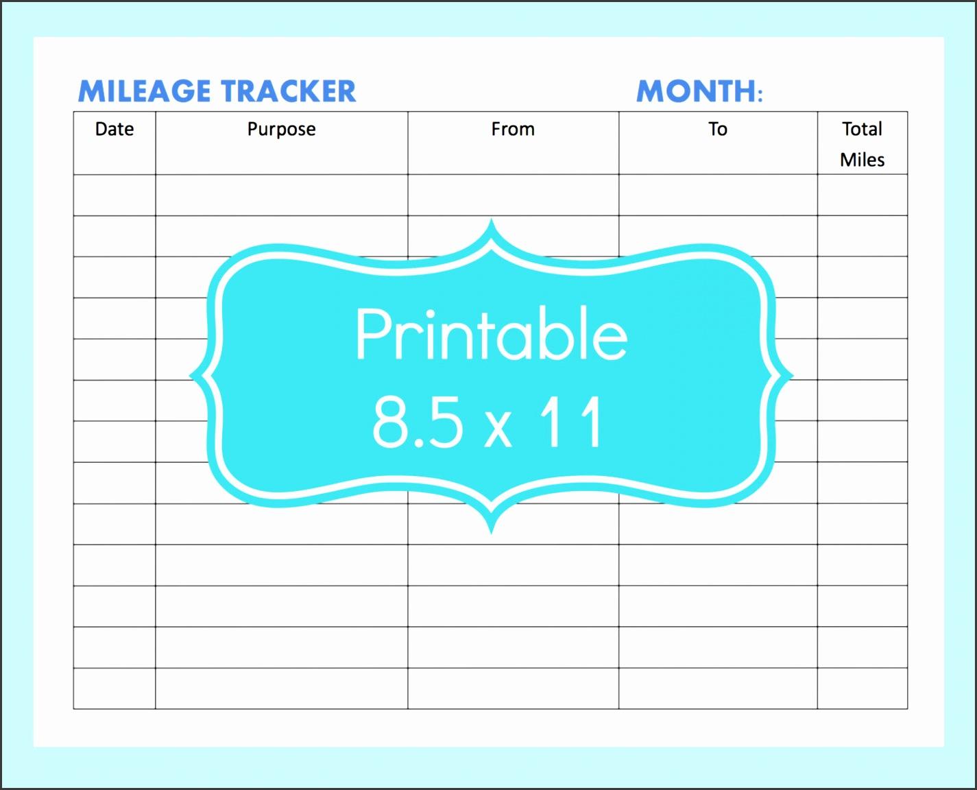 mileage tracker form printable