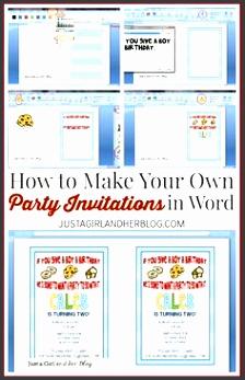 how to make your own party invitations