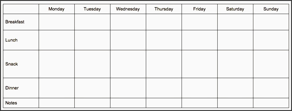 since i make meal plans on mondays my week starts with monday i have a copy of it stored in google drive as meal plan template since i don t want to