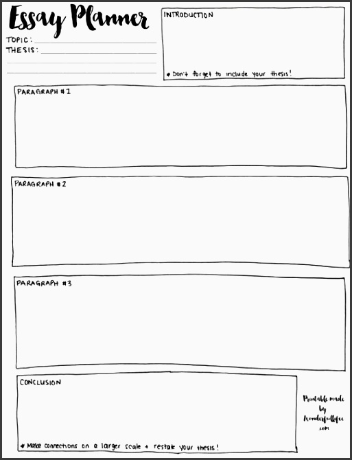 use this simple essay planner to outline your essay it will ensure your paper is organized