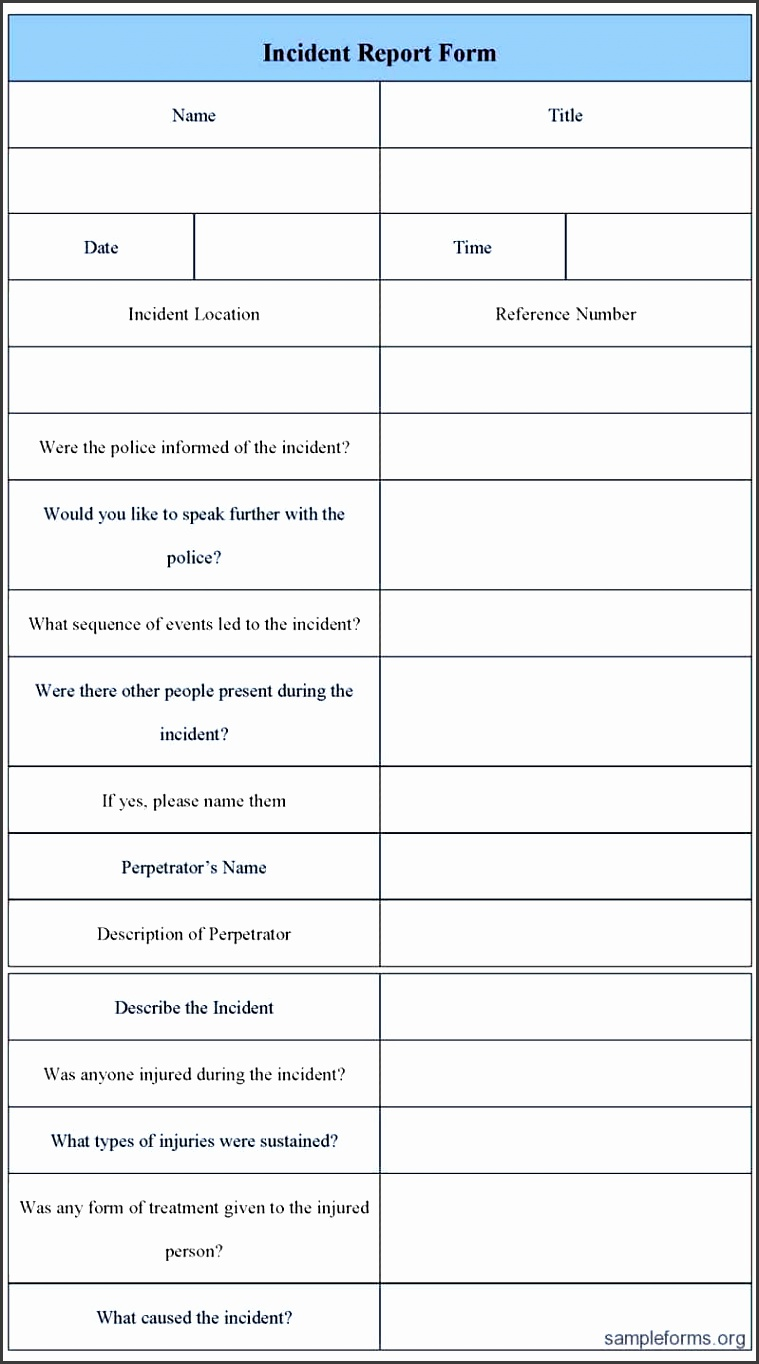 security officer incident report example and security incident report template word