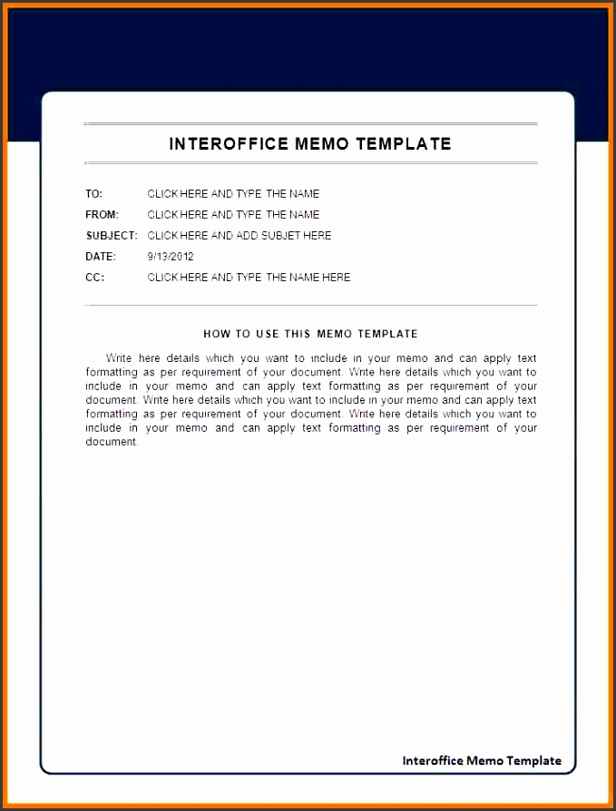 6 inter office memo template
