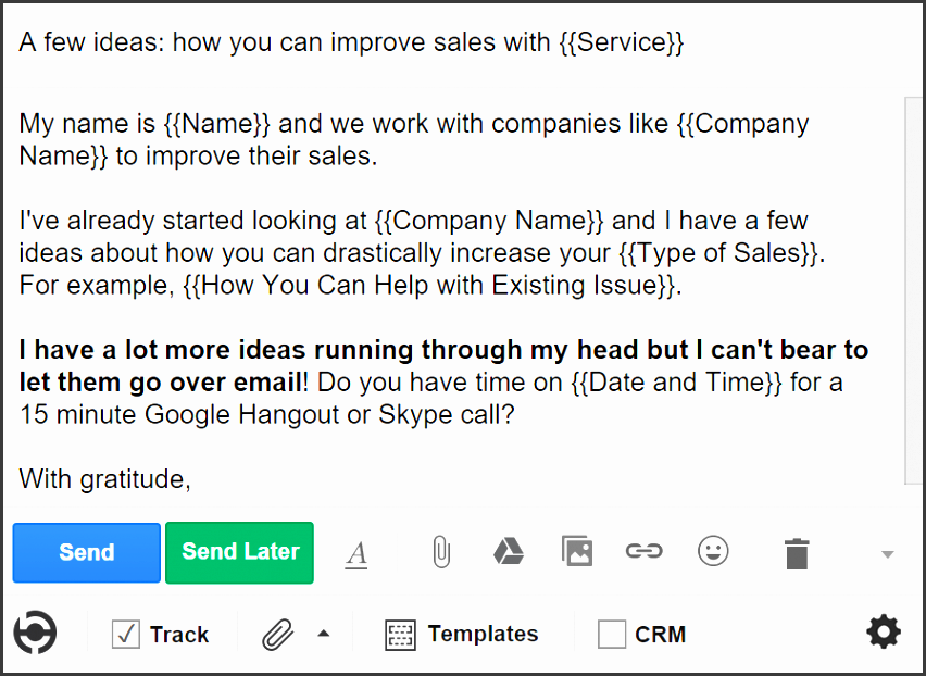 5 cold email templates for sales 3