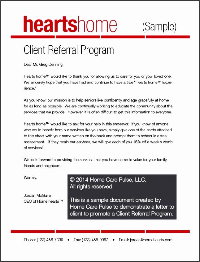 client referral program letter sample portrait