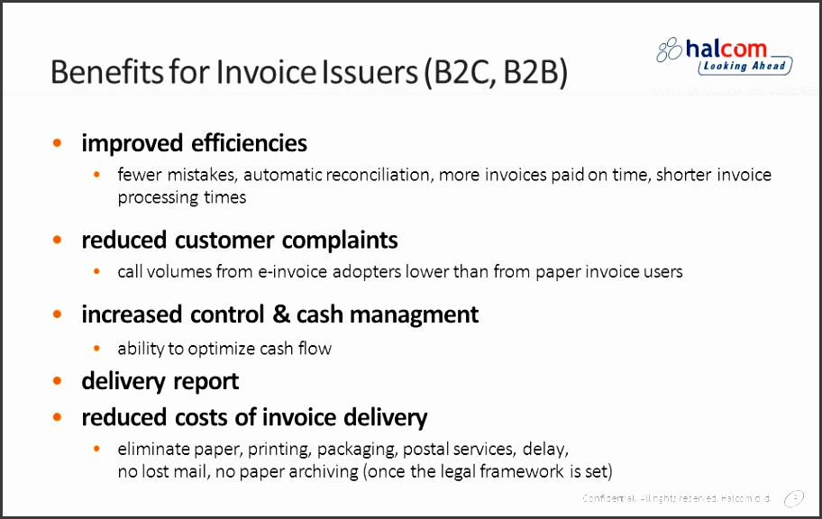 benefits for invoice issuers b2c b2b