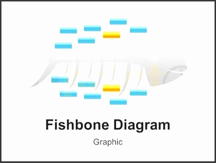 cause and effect fishbone diagram powerpoint graphic template