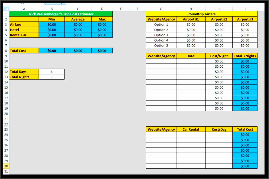 free apartment parison sheet templates