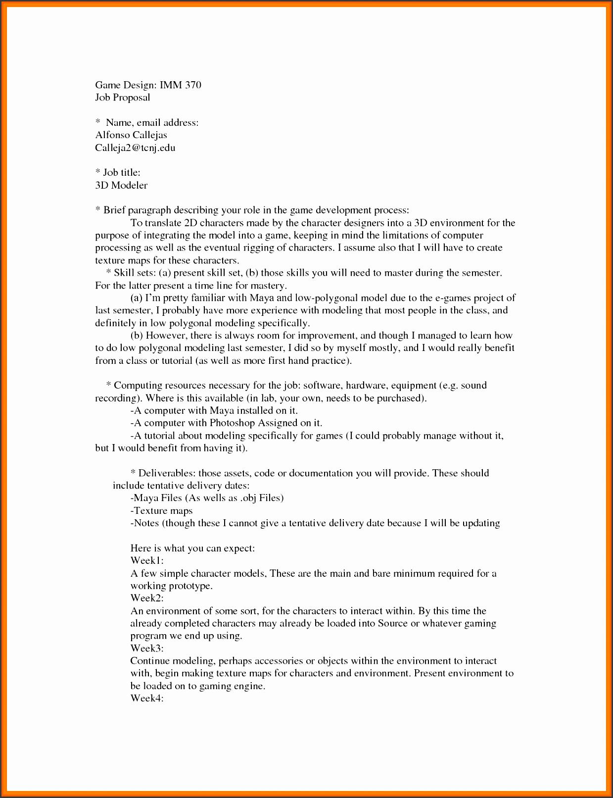 employment proposal how to write advertising proposal job