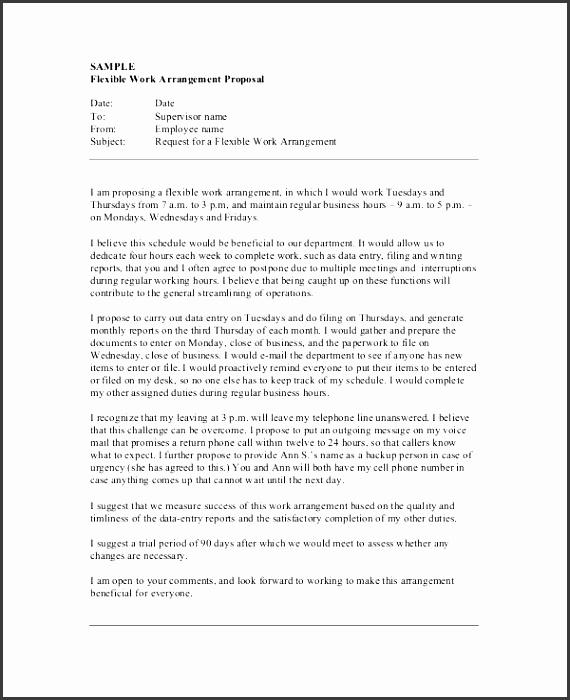 flexible work arrangement job proposal form